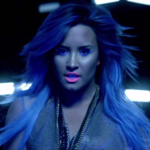 Demi Lovato Neon Lights Hair
