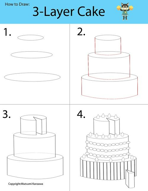 Drawing a 3-D cake will be a piece of cake! Learn to draw cylinder ...