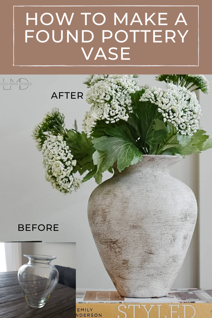 Turning a Glass Vase Into Antique Pottery. | Leah Maria Designs