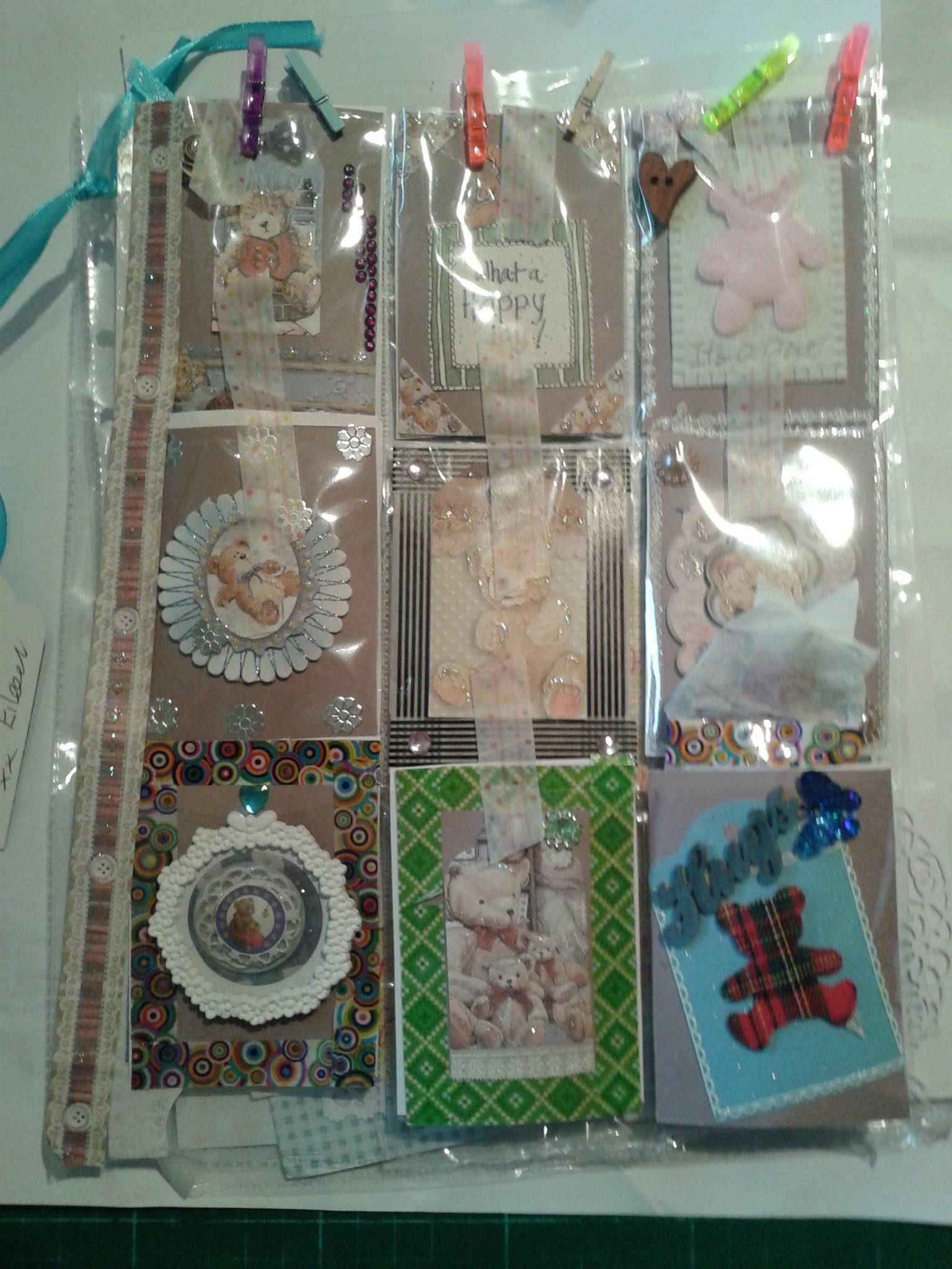 My 1st 2016 pocket letter  teddy bear theme had already posted  when realised no photo thus tape
