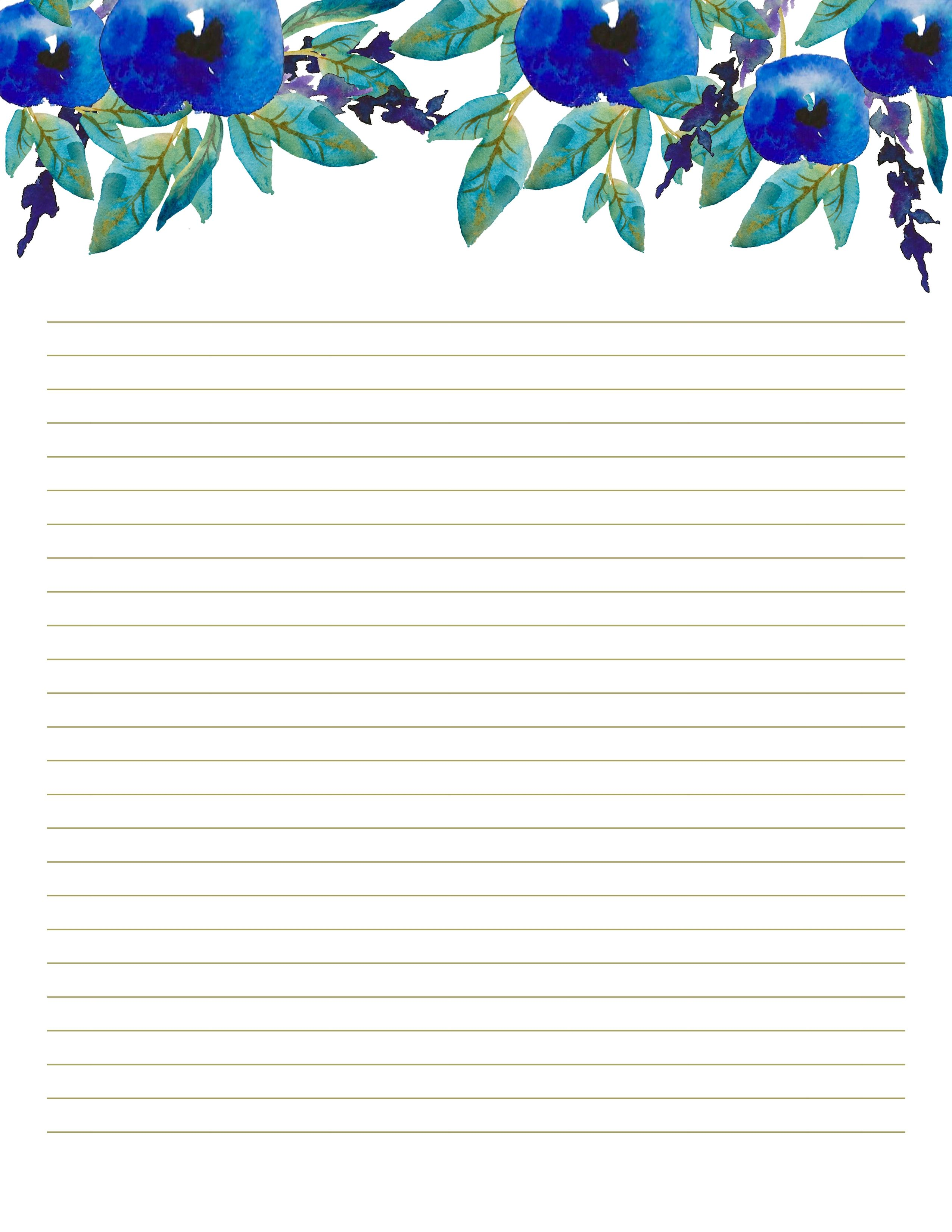 Floral Writing Paper Printables Letter Paper 8 5 X 11 In Etsy In 2021 Writing Paper Printable Stationery Writing Paper Printable Free Printable Stationery