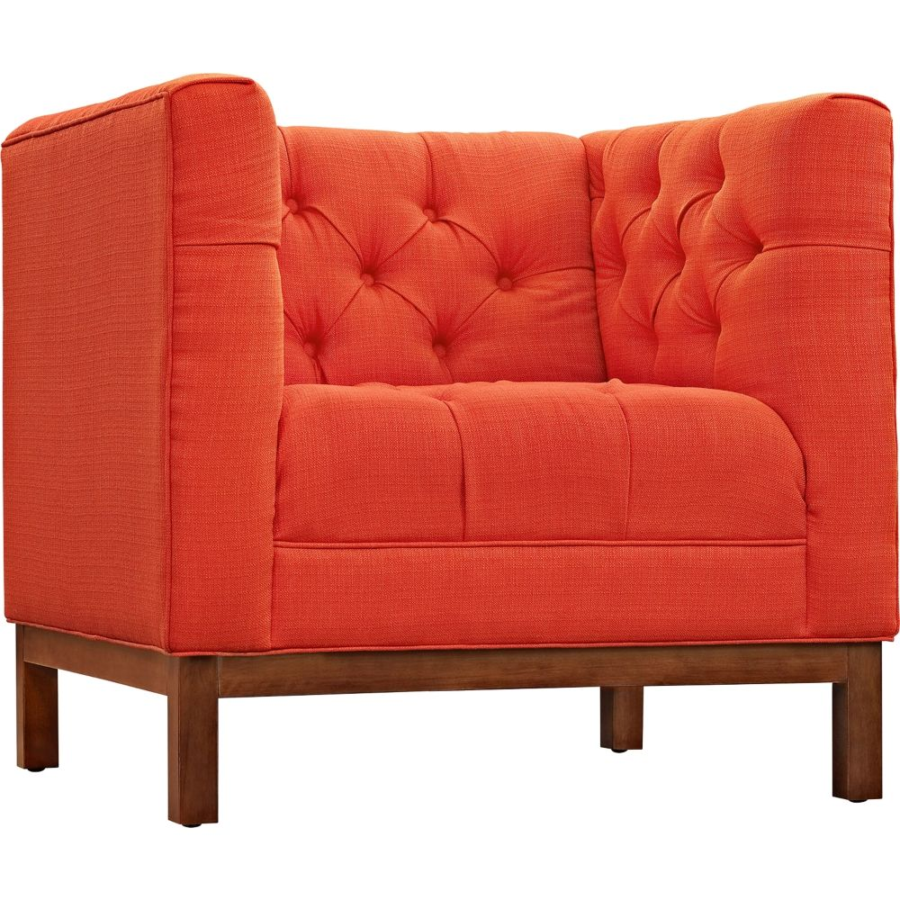 Panache Atomic Red Fabric Tufted Armchair Style 13j28