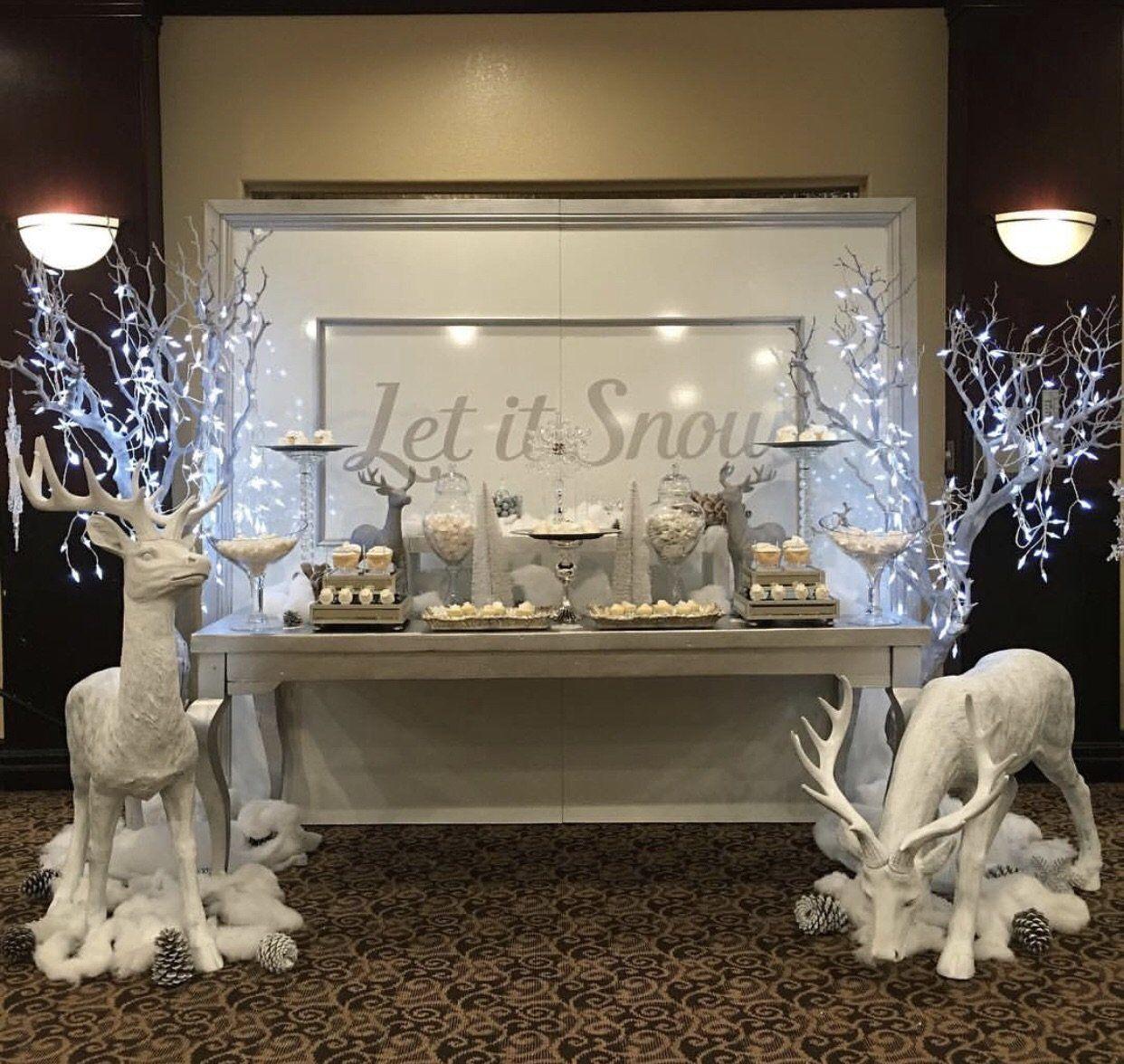 Let It Snow Backdrop Panels Winter Wonderland Christmas Party White Party Decorations Winter Wonderland Decorations