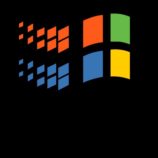 Microsoft Windows Wikipedia Logo Informatique Microsoft Windows Windows 95