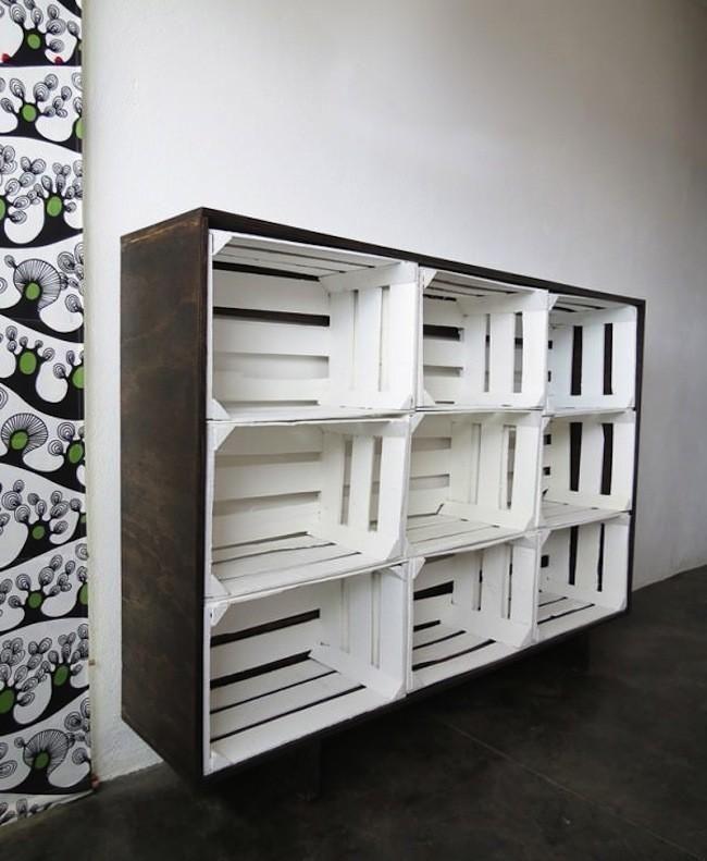 Hazlo t mismo una estanter a con cajas de fruta cajas de madera decoracion - Estanterias con cajas de fruta ...