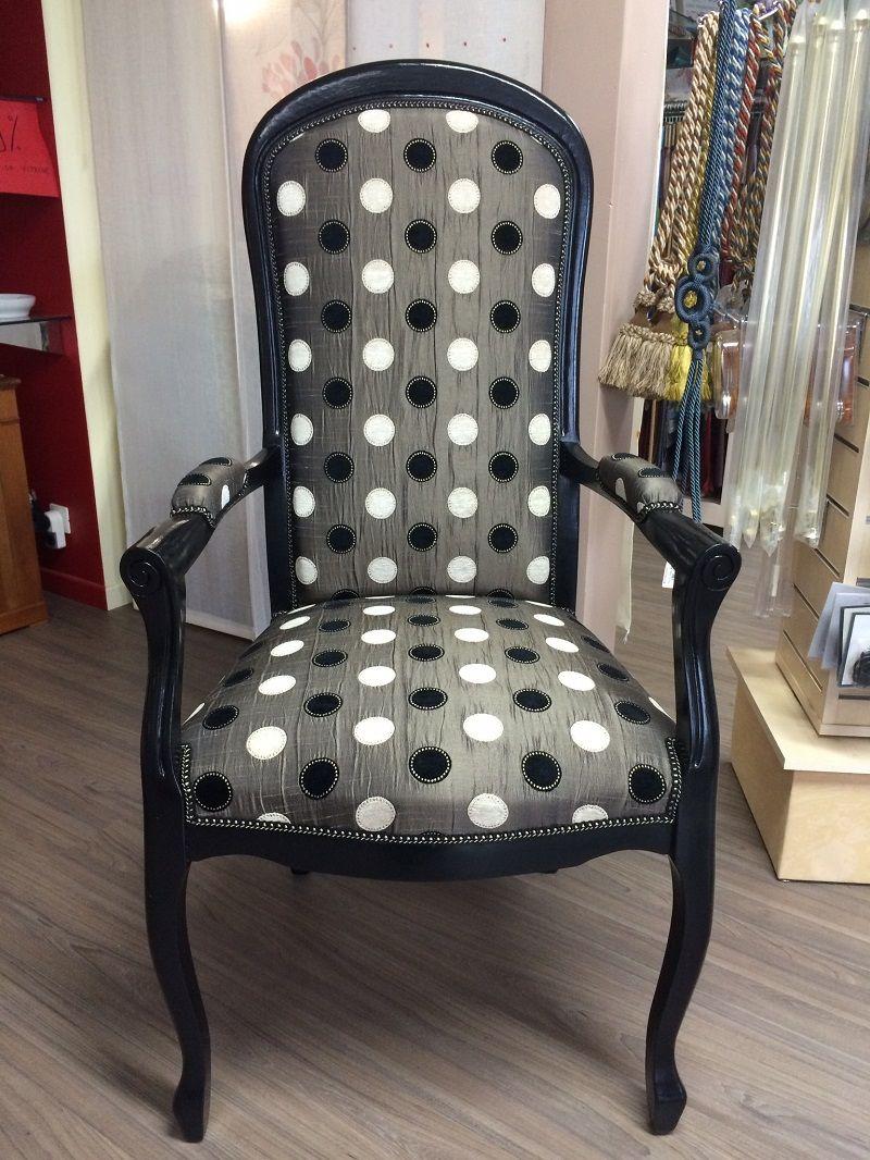 r sultat de recherche d 39 images pour fauteuil voltaire peint noir upholstery pinterest. Black Bedroom Furniture Sets. Home Design Ideas