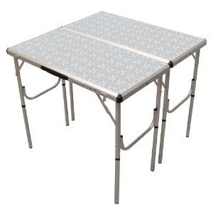 Lifetime 4 Ft Fold In Half Adjustable Height Folding Utility Table Brew Day Work Table With Images Folding Camping Table Camping Furniture Aluminum Folding Table