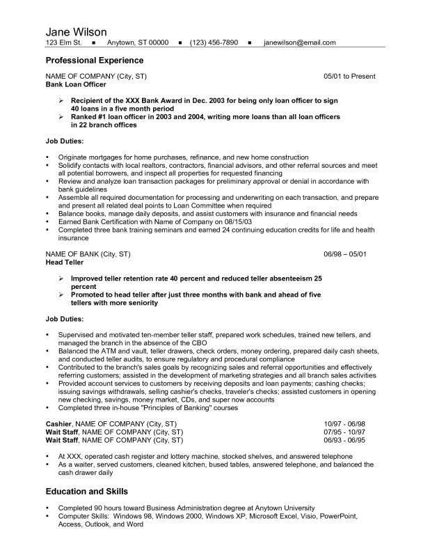 Head Teller Resume Resume For Bank Teller  Template  Pinterest  Bank Teller And Banks