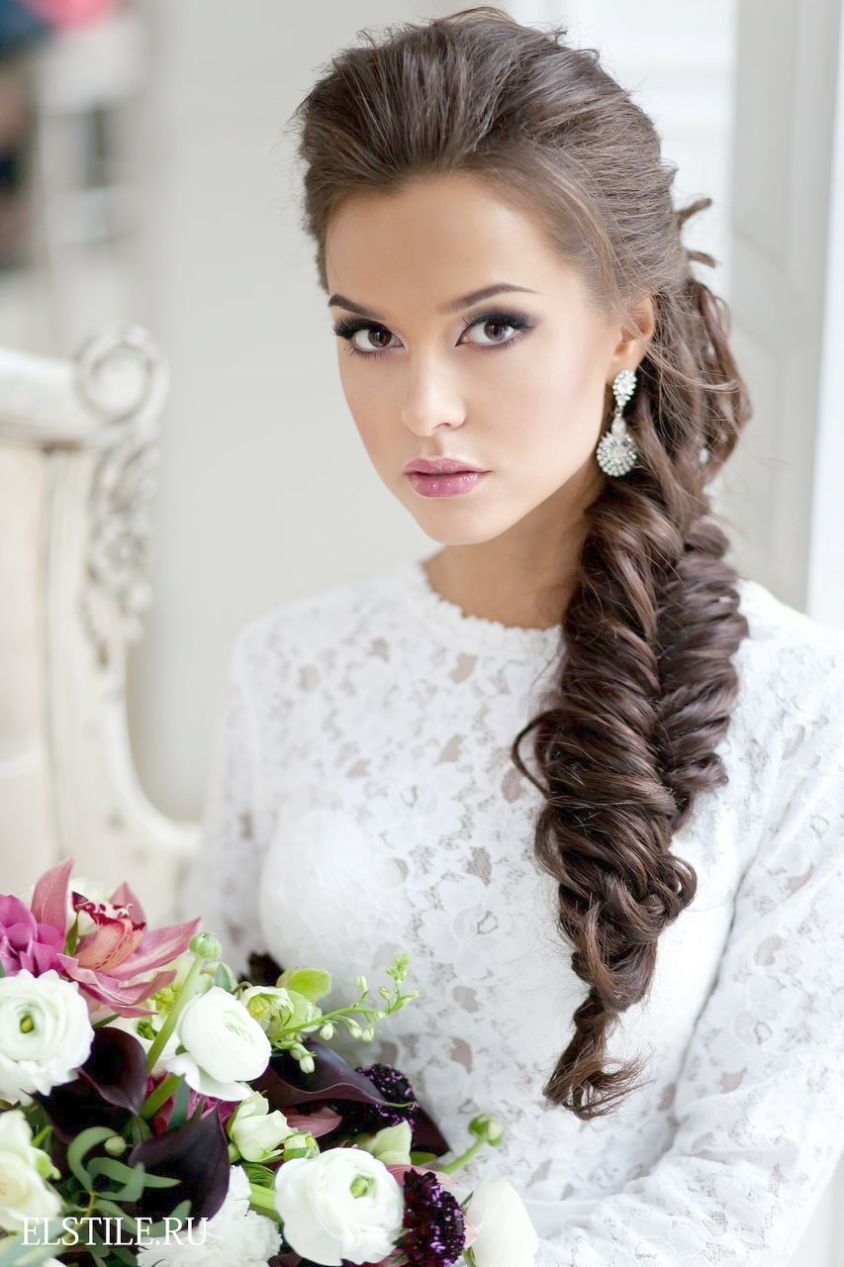 Simple wedding hairstyles for thin hair braided wedding hairstyles