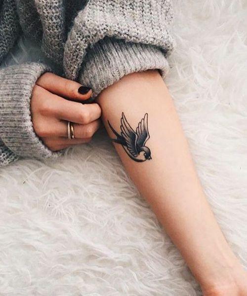1bada5f33 Cute Little Sparrow Tattoo on Arm for Girls | Tattoo | Sparrow ...