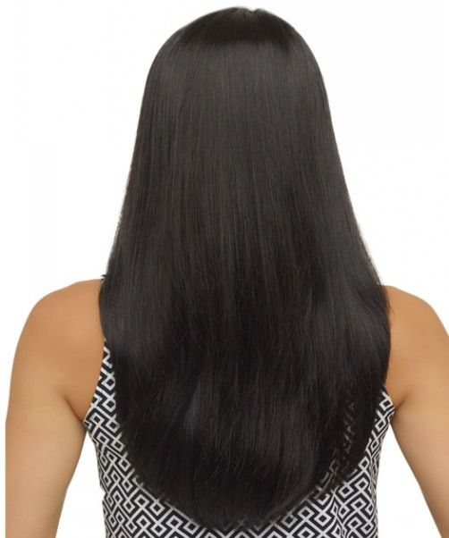 Thick Long U Shaped Hairstyles For Black Hairs Straight Haircut