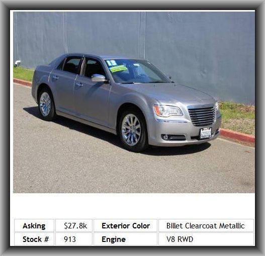 Chrysler C For Sale: 2013 Chrysler 300 C Sedan Adjustable Headrest, Power