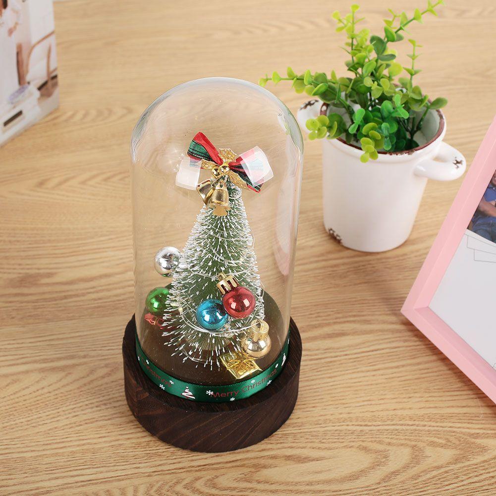 Glass Artificial Christmas Tree Gift Music Box Luminous ...