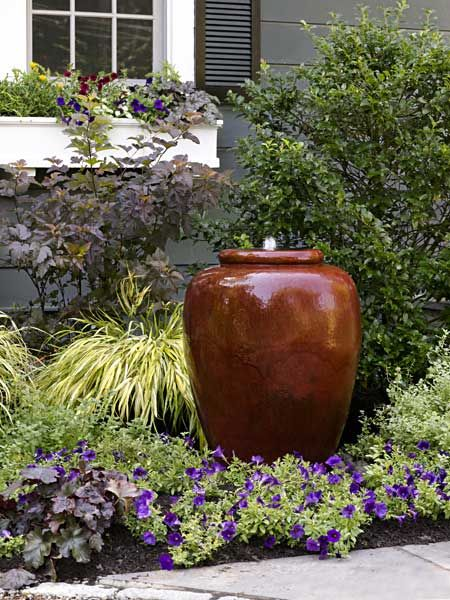 A private and inviting front yard urn for Front garden features