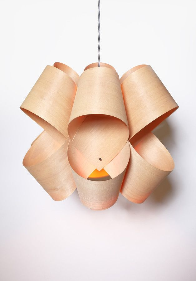 Pendant lighting eights handmade pendant wood veneer lamp a unique product by twotone via
