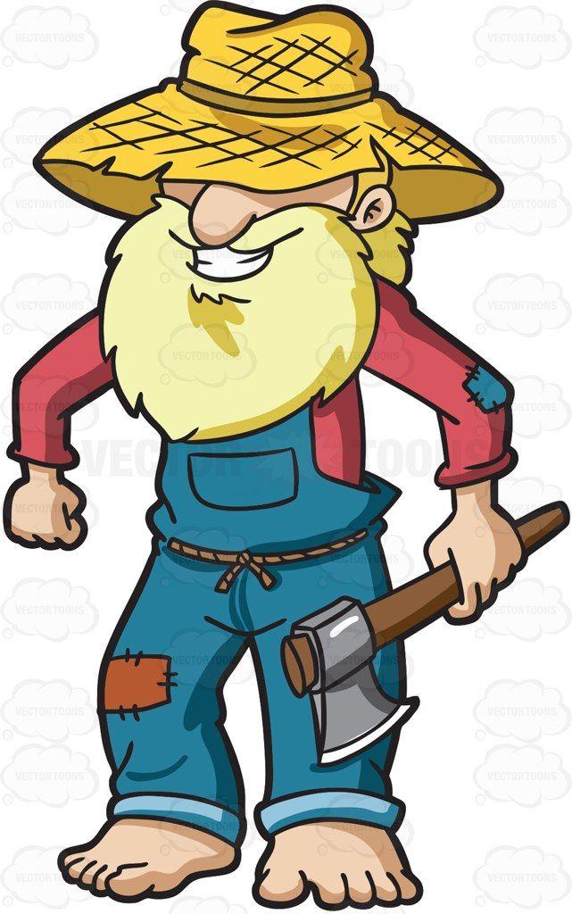An old yokel farmer #cartoon #clipart #vector #vectortoons ...