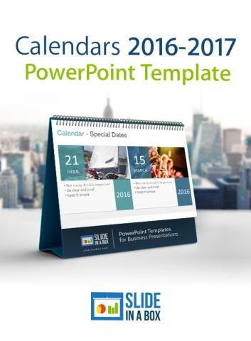 Calendars  Powerpoint Template Perfect To Show Dates