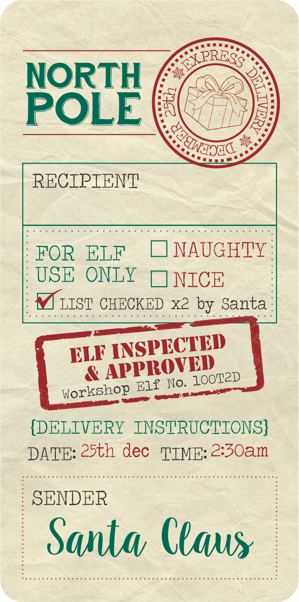 picture relating to Free Printable North Pole Special Delivery Printable known as Pin upon Craft Plans
