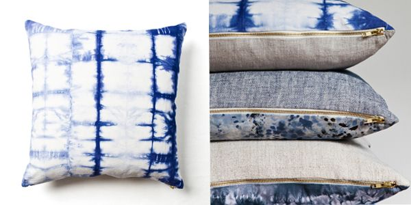 blue pillows pillowcases covers shibori tie dye beautiful grande pillow collections throw kraftdirect