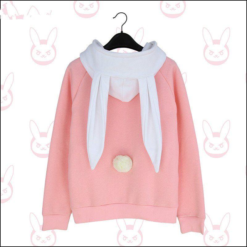 eb366ddec Trending Fashion Overwatch D.VA Pinky Bunny Hoodie Baseball Jacket ...