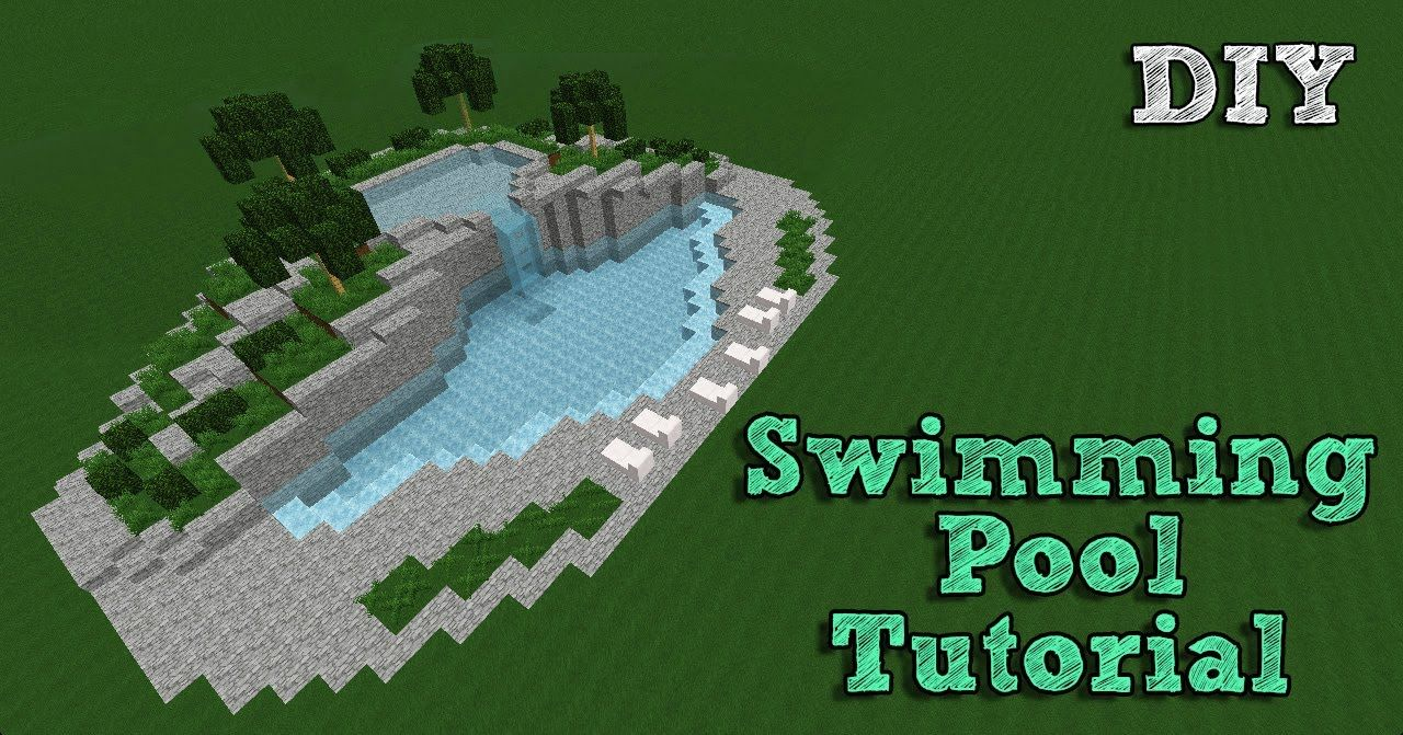 minecraft tutorial building a swimming pool 1 minecraft building pinterest minecraft. Black Bedroom Furniture Sets. Home Design Ideas