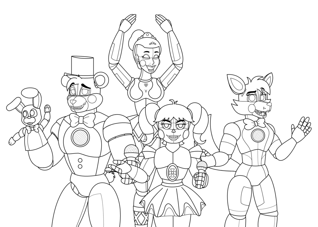 This is a picture of Playful Fnaf Sister Location Coloring Pages