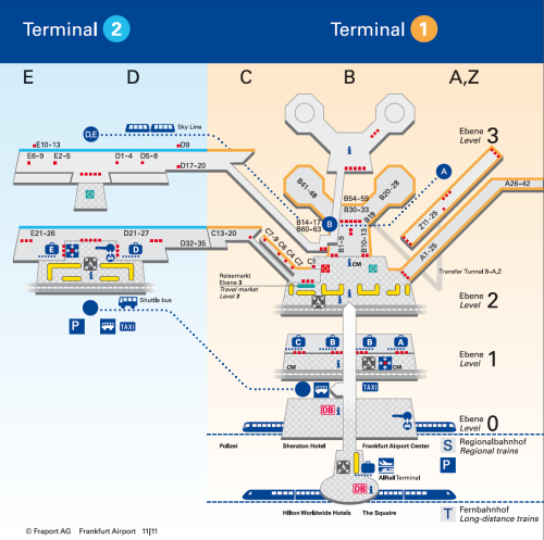 International Airports In Germany Map.Frankfurt Airport Overview Map Germany Travel Frankfurt