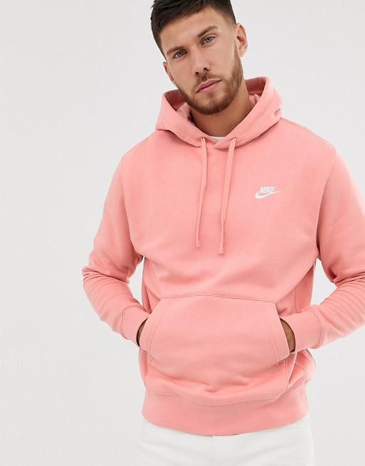 Nike Club Logo Hoodie Pink | ASOS | Hoodies, Mens ...