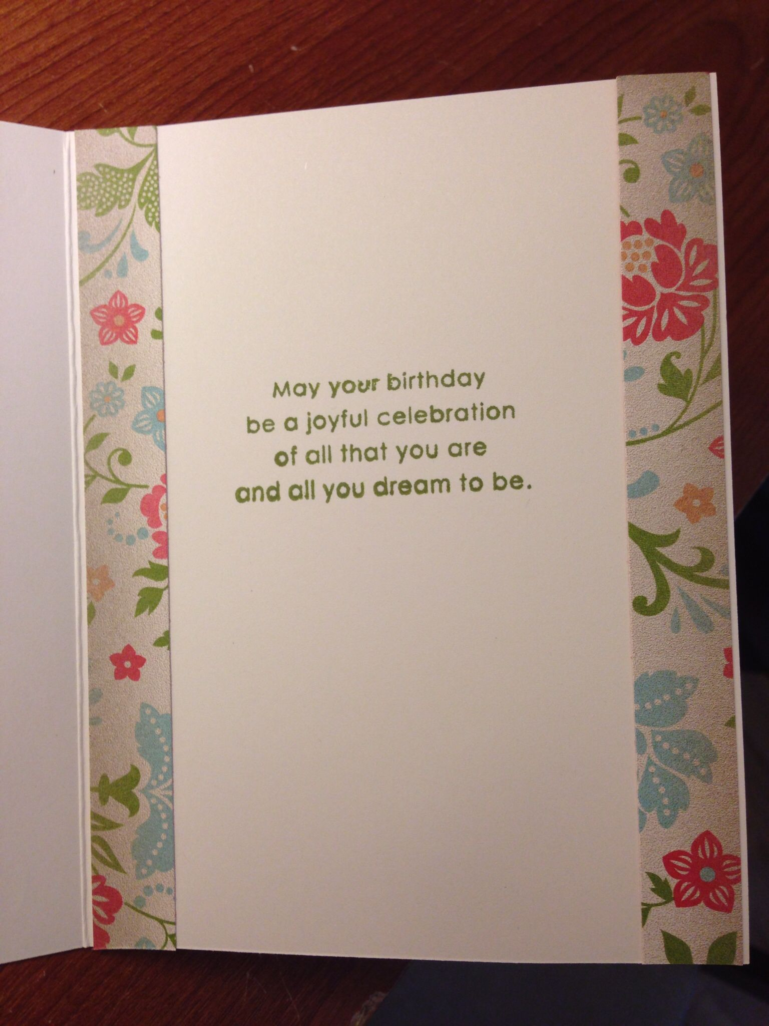 Simple Birthday Card Inside Greeting Sentiments Cards