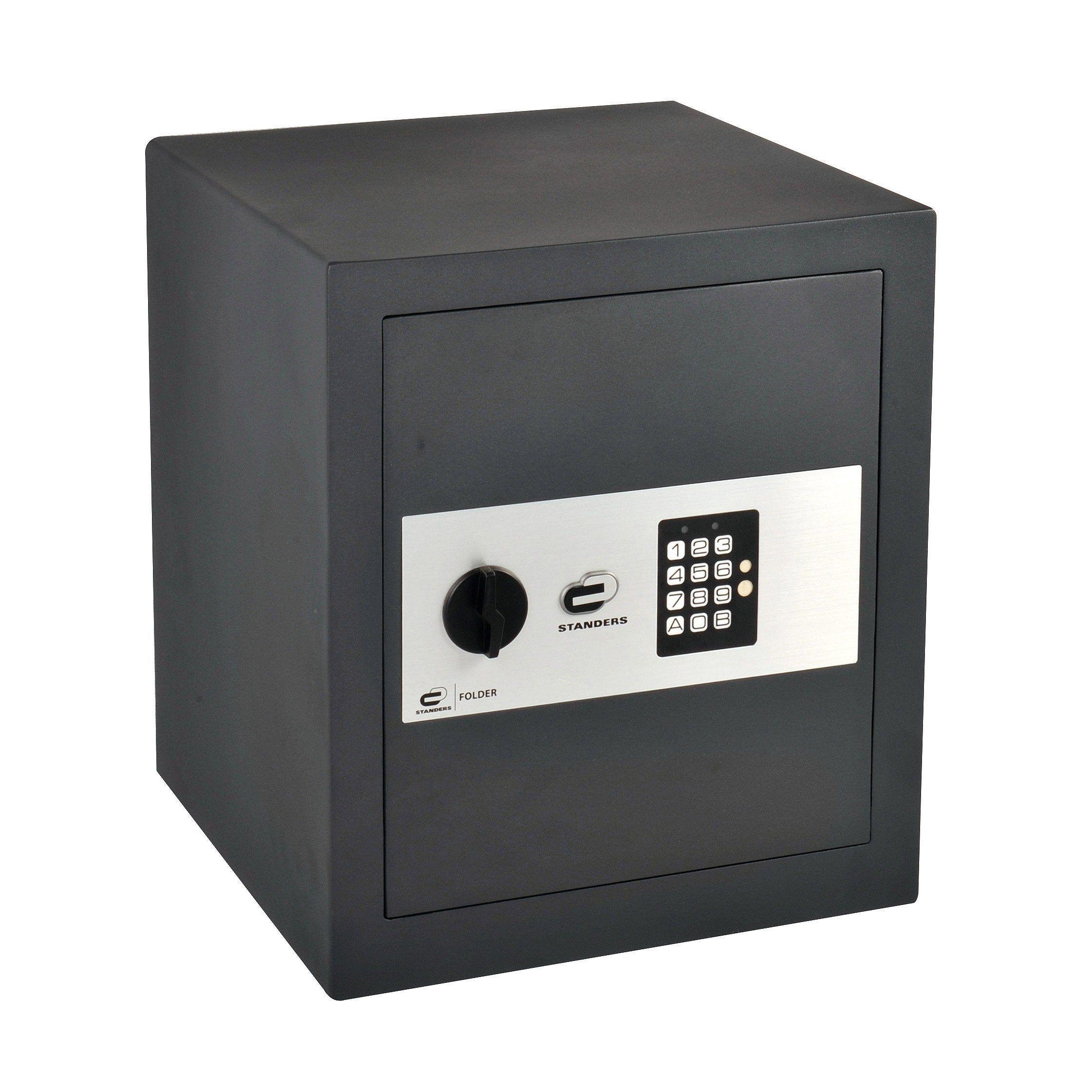 Coffre Fort A Code Standers Easy Large H 40 X L 35 X P 36 Cm En 2020 Coffre Fort Coffre Et Easy
