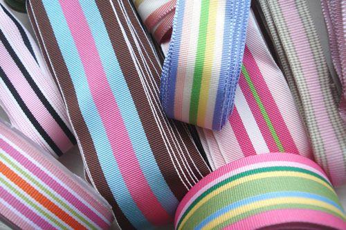 Striped grosgrain ribbon style nastri