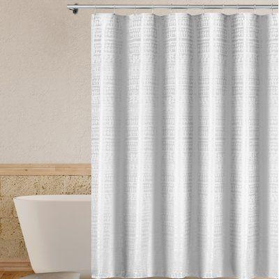 Gracie Oaks Rockett Single Shower Curtain Color Off White