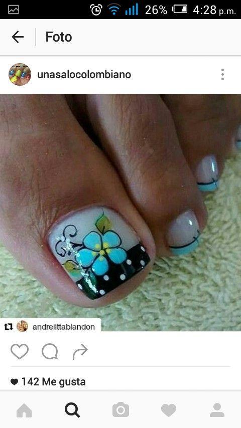 Pin de Ketty Laura en Uña | Pinterest | Diseños de uñas, Pedicura y ...