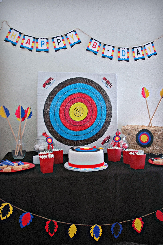 Elegant Archery Party Dessert Table
