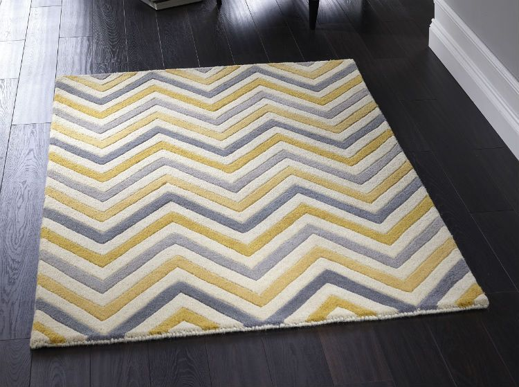 Cabone Yellow Grey Rugs Online From Direct