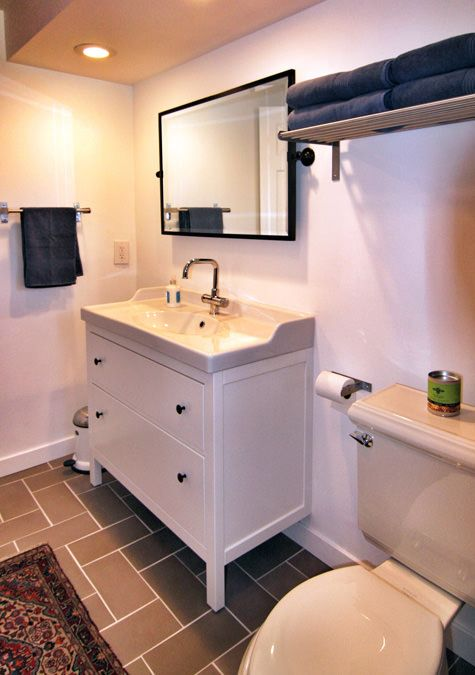 Stunningly Affordable Ikea Finds Your Vacation Rental Guests With Hemnes Bathroom  Vanity Renovation