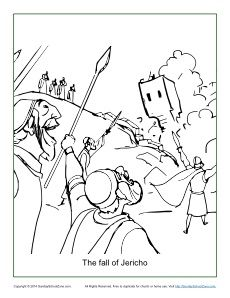 The Fall Of Jericho Coloring Page Bible Coloring Pages Battle