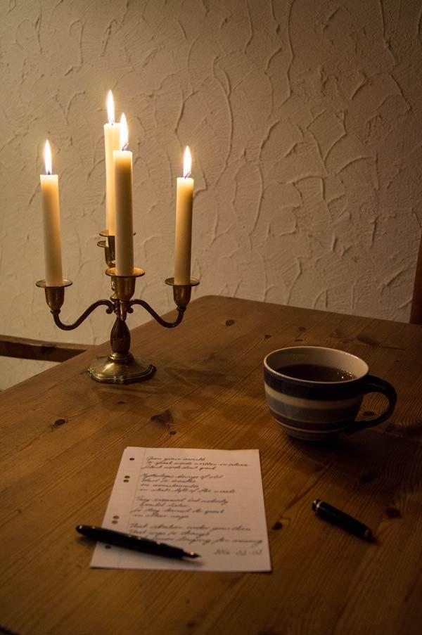 Morning poetry ritual