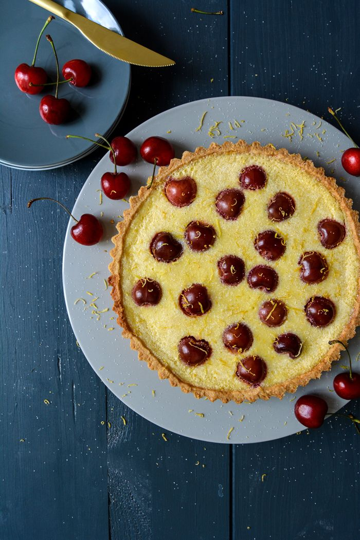Cherry Lemon Tea Time Tart Eat In My Kitchen To Bake Pinterest