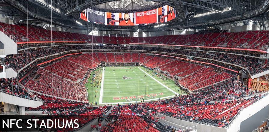 Stadiums Of Pro Football Your Ticket To Every Nfl Football Stadium Atlanta Falcons Stadium Football Stadiums Nfl Stadiums