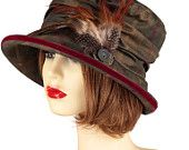 """Rainproof hat in one colour way with adjustable sizing inside, ideal for """" Town & Country"""""""