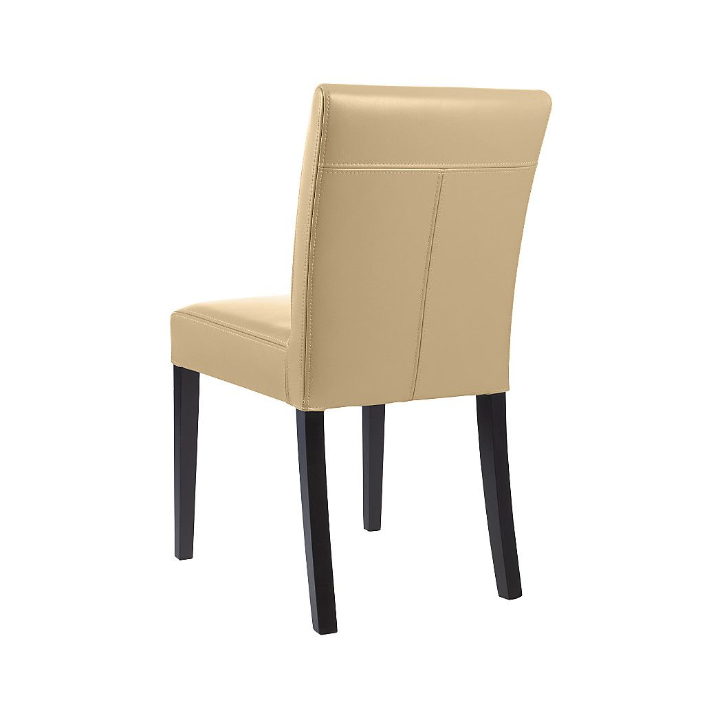 Terrific Lowe Cafe Latte Leather Dining Chair Chairz Leather Gmtry Best Dining Table And Chair Ideas Images Gmtryco