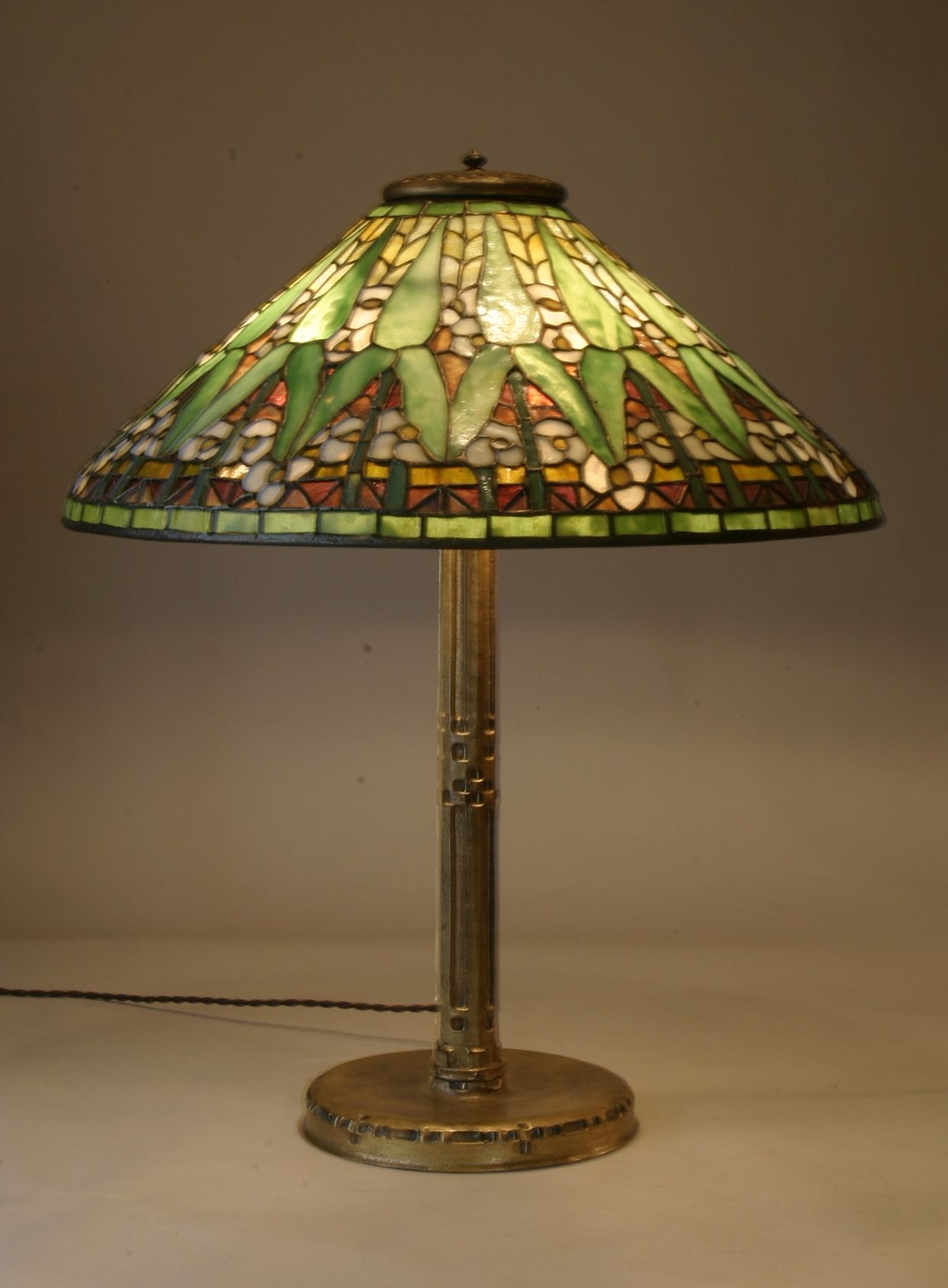 Antique tiffany table lamps - Antique Tiffany Lamps Arrowroot Art Nouveau Lamps And Chandeliers Antique Stained And Beveled