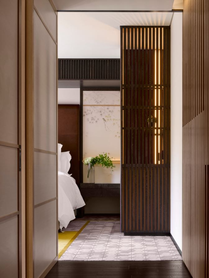 Hotel Guest Room Design: Guestroom Entrance At The Four Seasons Kyoto By HBA Design