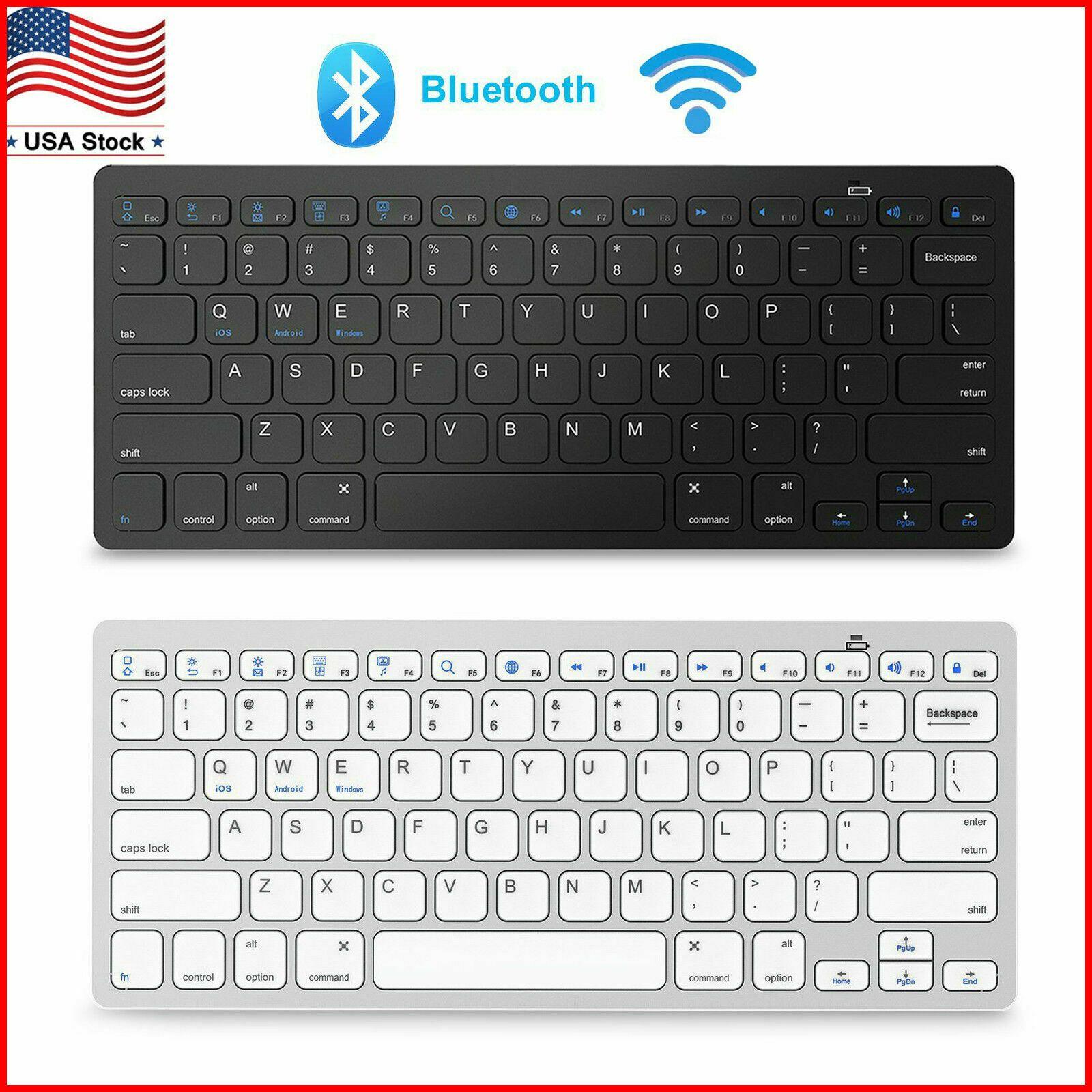 Details about Universal Slim Wireless Bluetooth Keyboard