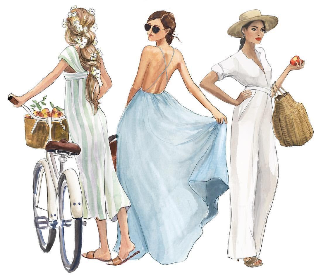 Photo of Fashion Illustration Print, Girl reading