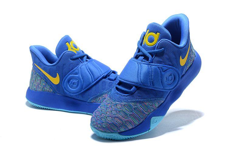the latest 1ceb6 f1a98 Nike KD Trey 5 VI Signal Blue Yellow Men s Basketball Shoes