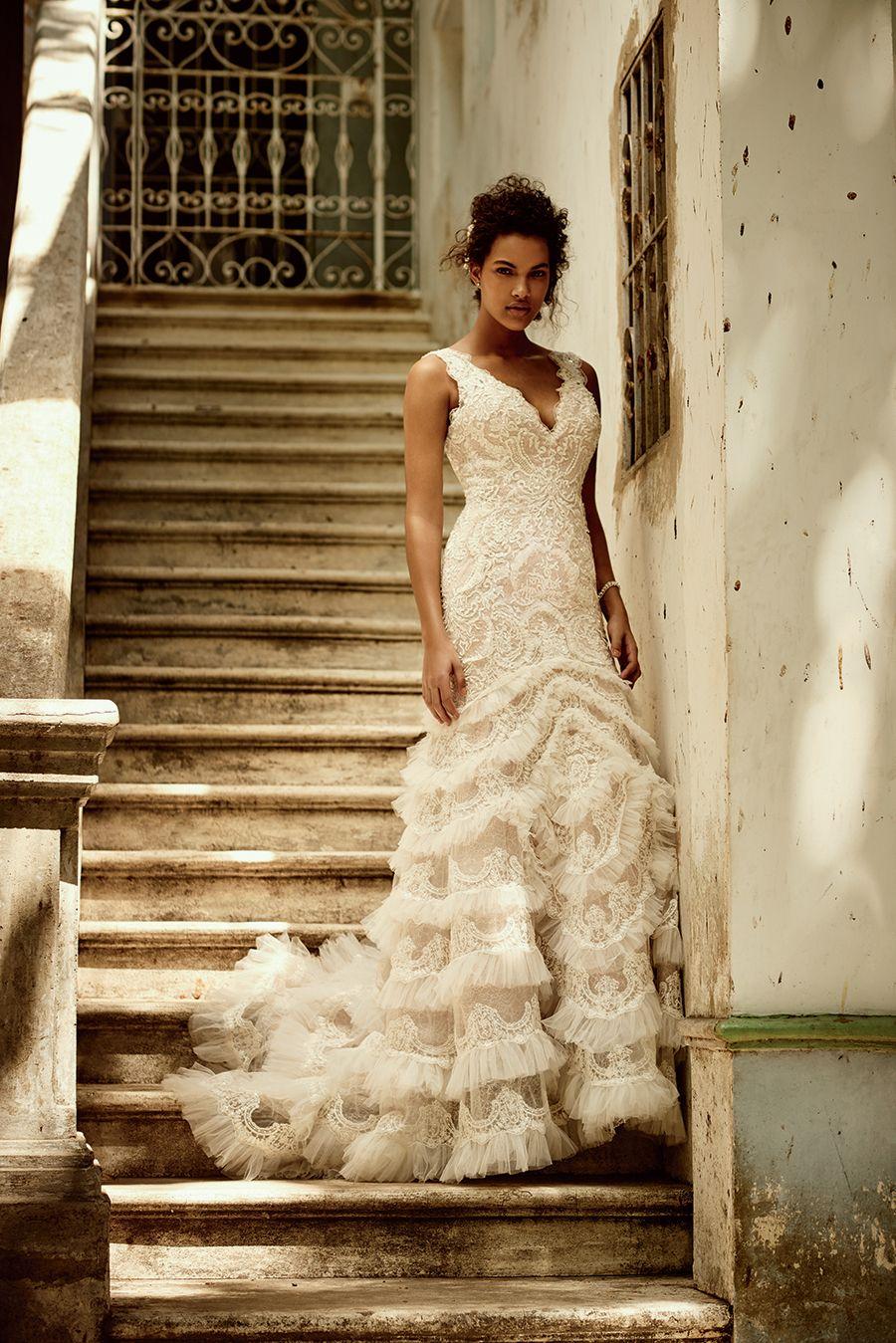 Galina signature wedding dress  Davidus Bridal Fall  Galina Signature Collection  Pinterest