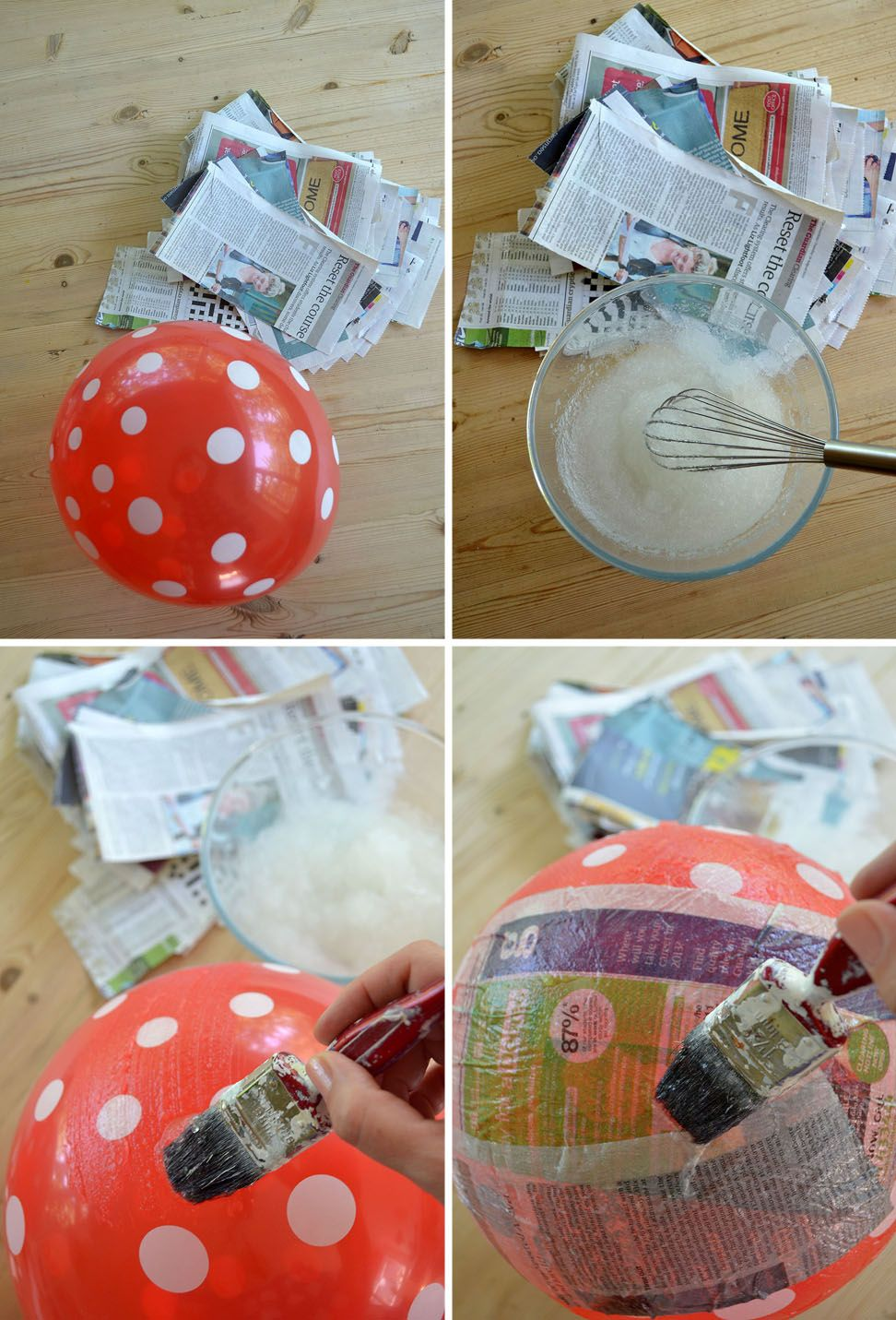 Paper mache japanese style diy lamp shade use white for How to make paper mache lamps