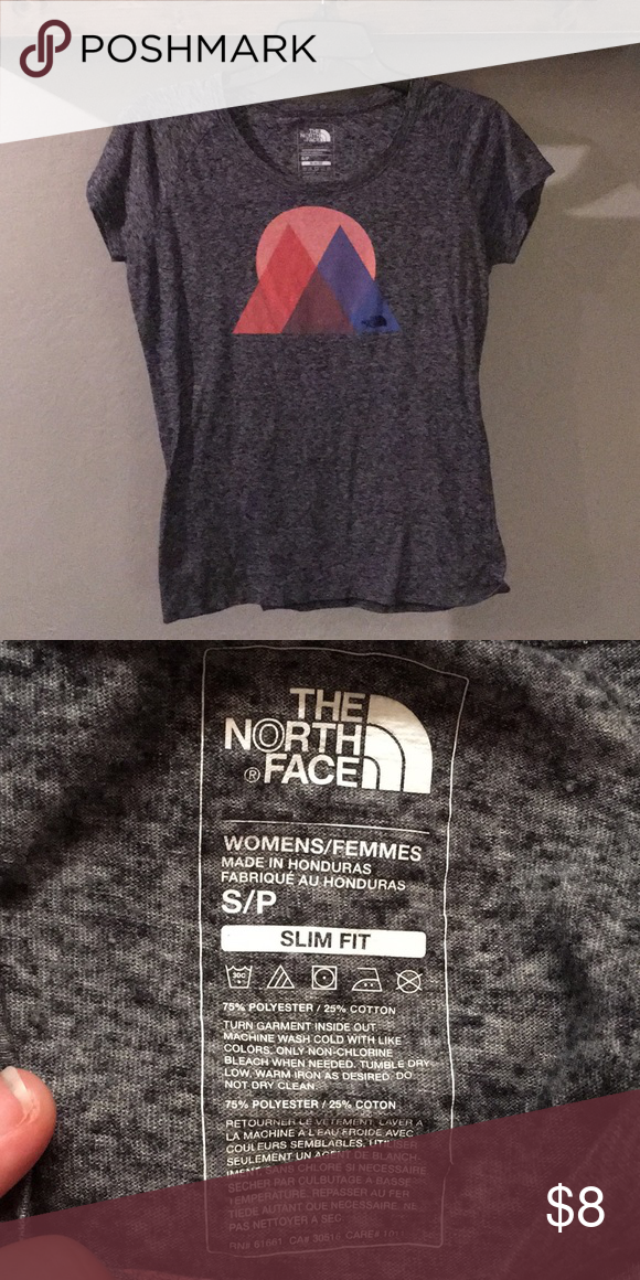 1bcb2affb The North Face T-shirt Grey slim fit northface t shirt. No holes or ...